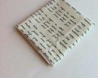 Fat Quarter - Small Handwriting Fabric