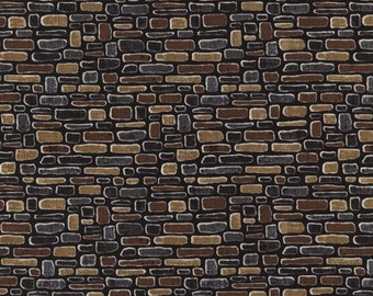 Timeless Treasures - Row by Row Home Sweet Home - Cobblestone Texture