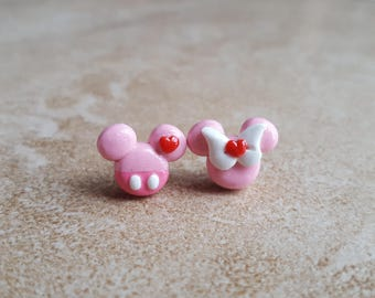 Valentine's Day Mickey Mouse Inspired Earrings-Minnie Mouse Inspired Earrings-Disney Inspired Earrings