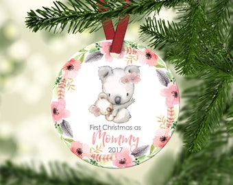 Mommy's First Christmas.First Christmas As Mommy.New Mom Ornament.Mommy's First Christmas Ornament.Christmas Ornament.Ceramic Ornament