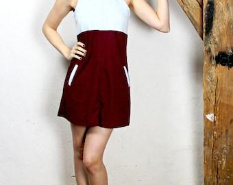Sale! Dress ' Ruby blue ' light blue Burgundy short sleeveless jersey