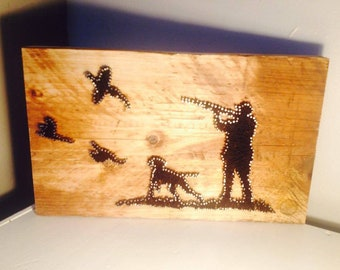Rustic shooting scene Nail and String Art