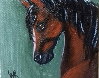 Miniature of a bay horse