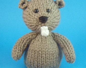 Beaver Toy Knitting Pattern (PDF)