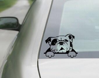 English Bulldog Decal |  Bulldog Decal | Car Decal |  Laptop Decal | Window Decal | tablet  Decal | Notebook Decal | Vinyl