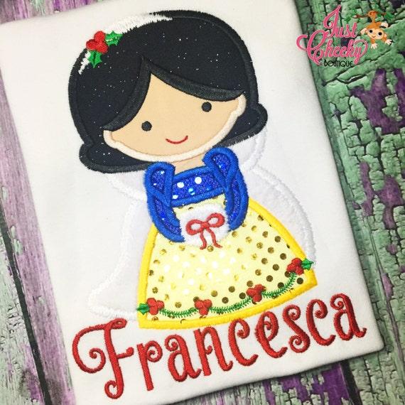 Snow White Christmas Cutie Embroidered Shirt - Prince Charming - Disney Princess - Disney Christmas Vacation -