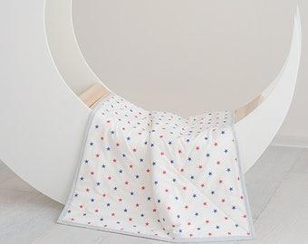 Organic Blanket, Pastel Blanket, Newborn Blanket, Baby Girl and Boy Blanket, Pure Cotton Blanket, Blanket Baby, Baby Quilt, Soft Blanket