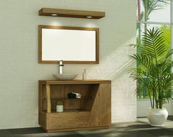 Furniture teak bathroom vine single Bowl - 100cm