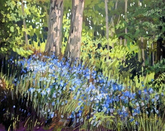 Culzean Bluebells | an original painting by Tracy Butler