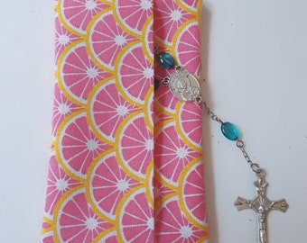 Rosary Pouch | Citrus Fabric