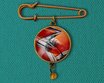 1959 Cadillac Eldorado Fins Pin, Magnet, Keychain, or Necklace