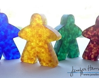 MEGA Meeple! Large Cast glass Player Marker by Jenefer Ham Pawns Board Game Glass Sculpture