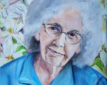 Commissioned oil on canvas One of a Kind Custom Portraits