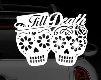 Till Death Couple Car Decal