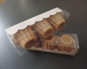 A set of 3 soaps fluted Bordeaux - 25% of oil of sweet Amande