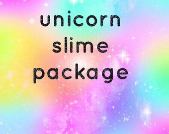 unicorn slime package