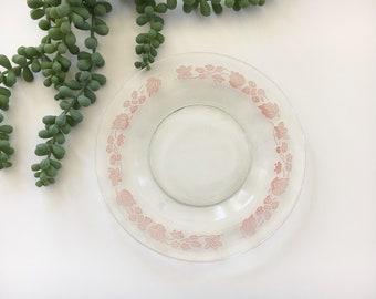 Pink Leaf Plates