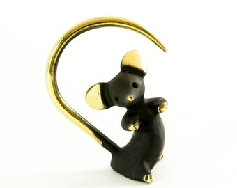 """Walter Bosse Mouse - Brass """"Black Gold"""" Mouse Figurine — """"Maus"""""""