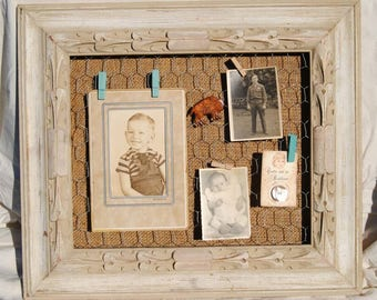 Farmhouse Frame with Chicken Wire