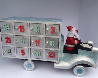 Wooden Truck Advent Calendar