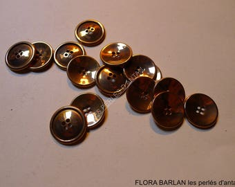 vintage metal buttons french quality