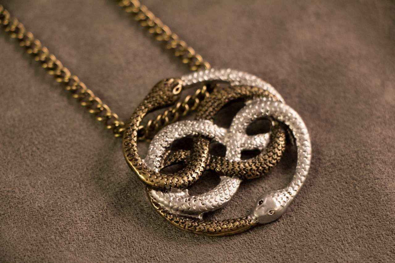 Auryn necklace pendant gold silver inspired by the zoom mozeypictures Choice Image