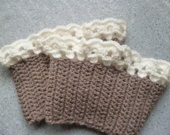 Jambières pour bottes en laine au crochet réalisées à la main. Jambières au crochet. Manchettes. Fait main