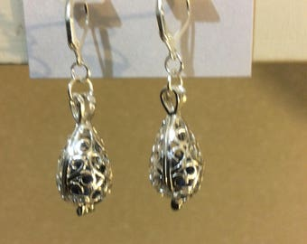 Essential oils Earrings,  sterling silver lever back