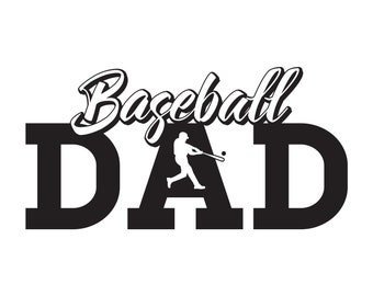 Baseball Dad Editable Vector .ai .svg and .pdf formats Instant Download