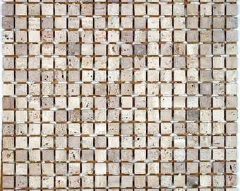 Shower bath Salvadore 15 stone mosaic