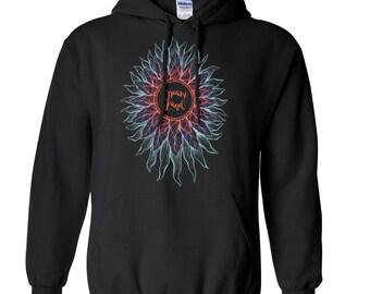 mandala hoodie, floral mandala hoodie, spiritual hoodie, lotus hoodie, yoga sweatshirt, yoga hoodie, lotus flower sweatshirt