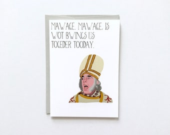 Funny Bridal Card, Movie Bridal Card, Fall Wedding Card, Wedding Card, Newlywed Gift, Funny Wedding Card, Newlywed Card, Best Friend Card