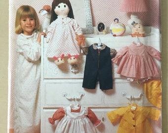 Butterick #6117 (Craft) - Doll Clothes Pattern