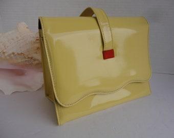 Yellow Handbag With Wrist Handle