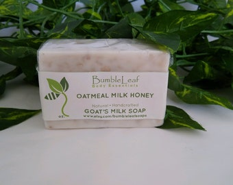 Oatmeal Milk & Honey Goat's Milk Soap - Handcrafted and Natural
