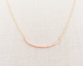 Pink Coral Necklace, Pink Bridesmaid Necklace, Coral Jewelry, Coral Necklace, Tiny Coral Necklace, Tiny Pink Coral Necklace, Necklace, GBN25