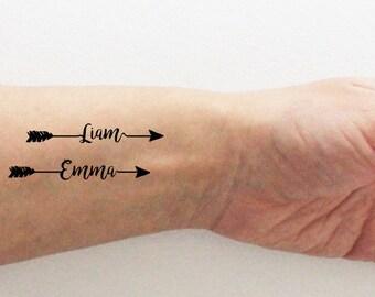 Custom temporary tattoos / firstname tattoo / personalized firstname tattoo / mother's day tattoo / valentine's  tattoo