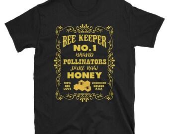 Old Time Honey Bee Keeper Tshirt | The Beekeeping Shirt | Funny Gift T-Shirt for Beekeepers | Funnny Love Beekeeper Shirt | Honeycomb Tee