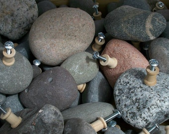 Rock Drawer Pulls from Lake Superior