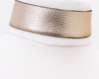 Leather Choker | Light Gold Choker Necklace | Red Leather Jewellery | Red Leather Choker | bdsm Choker wear