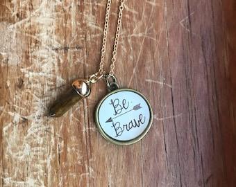 Reiki Infused : Be Brave Tiger's Eye Necklace