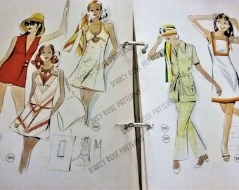 Vintage 1960s Lutterloh Pattern Drafting System Sewing Patterns