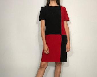 1980s colorblock dress