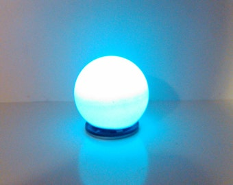 Modern small sphere led lamp, 1/12 miniature for dollhouses
