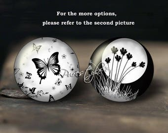 Butterfly,Handmade Photo Glass Cabochon,Round cabochons,Cabs Cabochons,Image Glass Cabochon,glass cabochons,Dome cabochons