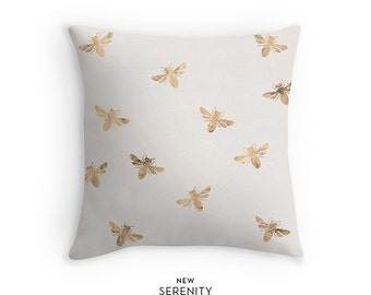 Pillow Cover, Bee Pillow Cover, Sandy, Decorative Pillow, Cushion Cover, Home Decor, NewSerenityStudio