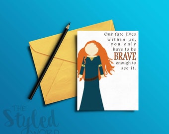 Merida Brave Greeting Card /Princess / Princess Card / Birthday Card / Blank Card (Printable / Instant Download)