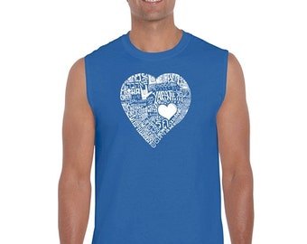 Men's Sleeveless Shirt - Love In 44 Different Languages