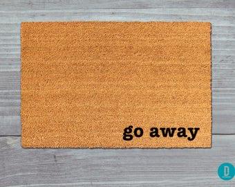 Go Away Doormat, Go Away Door Mat, Go Away Welcome Mat, Go Away