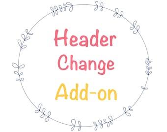 Header change in our wordpress template, custom wordpress theme